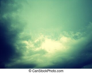 Stormy clouds on spring - overcast sky