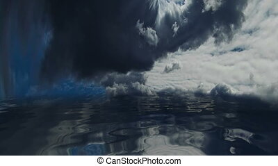 Stormy Clouds Over Dark Water