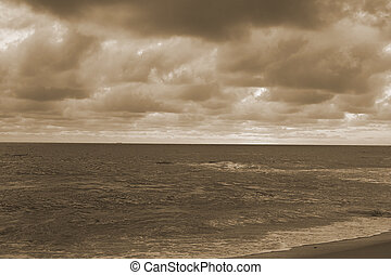 Stormy clouds above Indian ocean. Sri Lanka