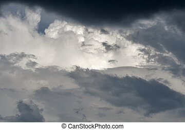 Stormy clouds - Dark dramatic stormy clouds and...