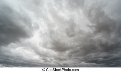 Stormy clouds time lapse - Fast stormy clouds wide angle...