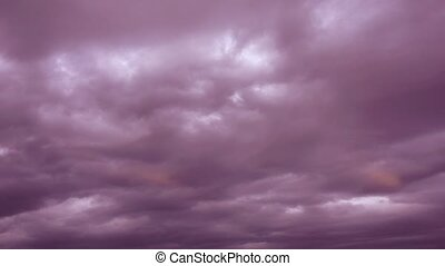 Stormy clouds time lapse