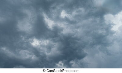 stormy clouds timelapse - grey clouds and heavy stormy sky...