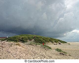 Stormy dark rain clouds