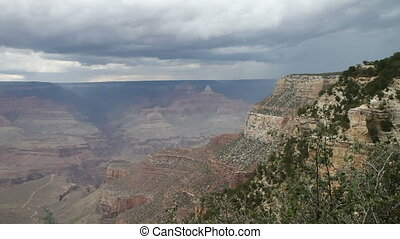 Stormy day on Grand Canyon