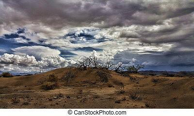 Stormy Desert Hill