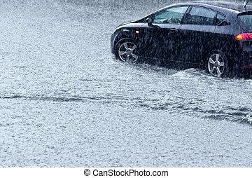 stormy időjárás, vezetés