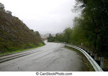Stormy Road Ahead - Stretch of highway just before road is...
