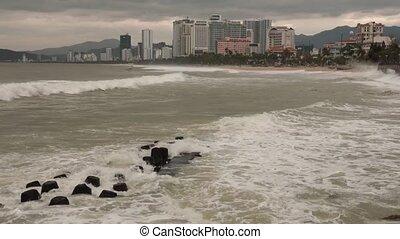 Stormy Sea Nha Trang Vietnam HD Time Lapse - Time lapse hd...