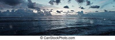 Stormy sea panorama