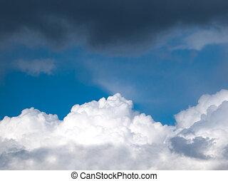 Stormy skies. Before the hurricane and rainfall