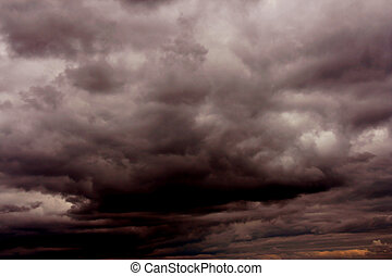 Stormy skies - Storm clouds in the sky
