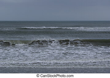 Stormy skies. - Stormy skies on the shoreline.