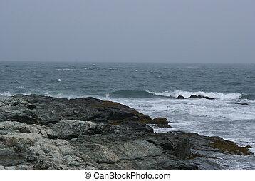 Stormy skies. - Stormy skies with a rocky ledge.