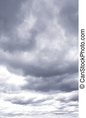 Stormy sky  - Dark ominous clouds. Dramatic sky.