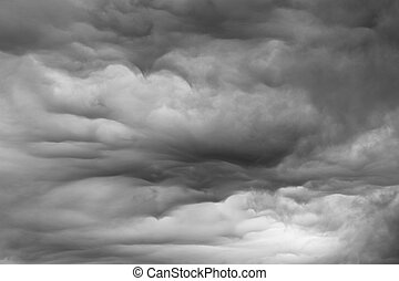 Stormy Sky - Lowering clouds forming before a rainstorm