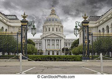 Stormy Sky over San Francisco City Hall Civic Center...