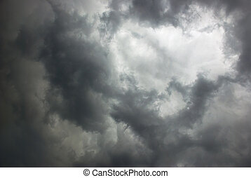 stormy sky covered with dark clouds