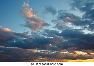 stormy sky - Natural background: dark stormy sky