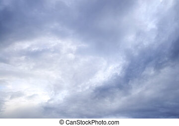 Stormy sky with sunshine