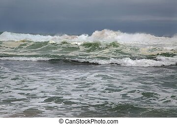 Stormy Waves Breaking