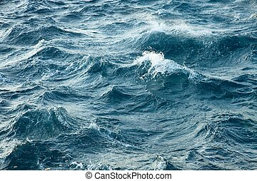 Stormy Waves - Waves of the stormy sea