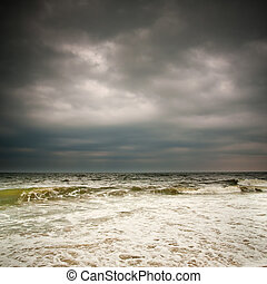 Stormy weather, Atlantic ocean coast