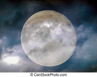 Stormy weather moon