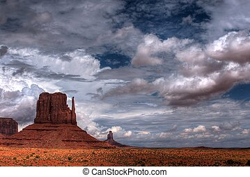 Monument Valley - Stormy weather over Monument Valley