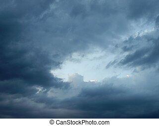 Stormy weather sky - Dark blue sky during a stormy weather...
