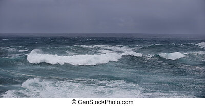 Stormy Weather - Large waves are kicked up by high winds...