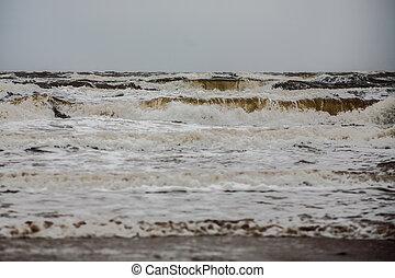 Stormy winter sea