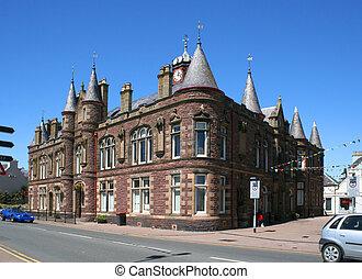 stornoway town hall - The unusual architecture of Stornoway...