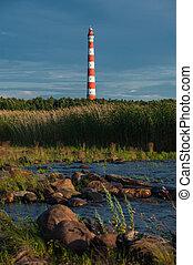 Storojensky lighthouse on the Ladojskoe lake