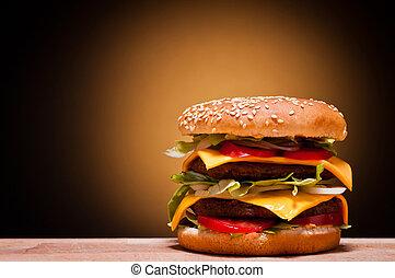 stort, hamburgare