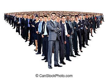 stort, längd, fyllda, grupp, folk
