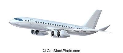 stort, passenger, plane., min, äga, desig