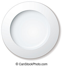stort, tallrik, middag, kant