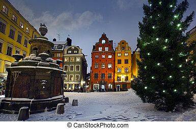 Stortorget at Chritmas time