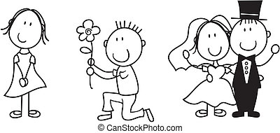 story board love - set of isolated couple cartoon, ideal for...