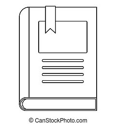 Story book icon, outline style.