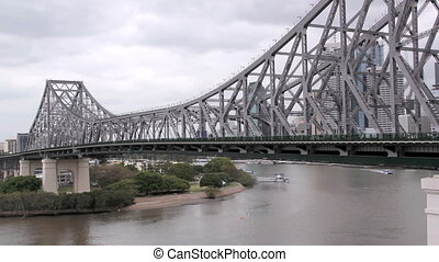 Story Bridge 1 - View of the iconic Story Bridge spanning...