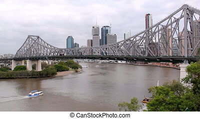 Story Bridge 3 Ferry - The iconic Story Bridge spanning the...