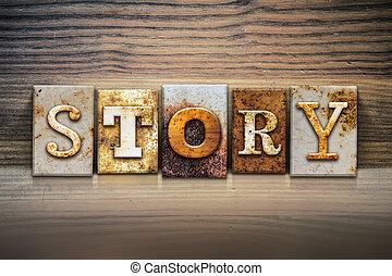 Story Concept Letterpress Theme