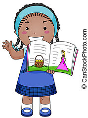 Story Telling - A Beaming Girl Telling a Story