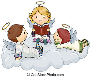 Story telling Angel - Angel telling Stories with Clipping...
