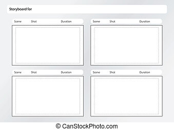 Tv commercial storyboard template x6 professional of film vector professional of film storyboard template for easy to present the process of story saigontimesfo