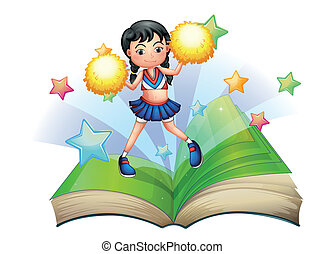 storybook, cheerdancer, dancing