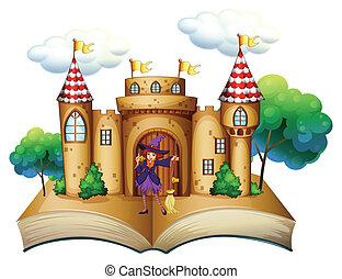 storybook, kasteel, heks