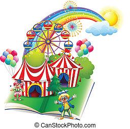 storybook, over, carnaval